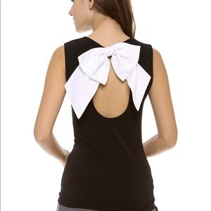NWT Alice + Olivia bow back top